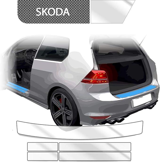 Blackshell Ladekantenschutz Einstiegsleisten Set Inkl Premium Rakel Für Octavia 3 5e Limo 2013 2017 Transparent Passgenaue Lackschutzfolie Auto Schutzfolie Auto