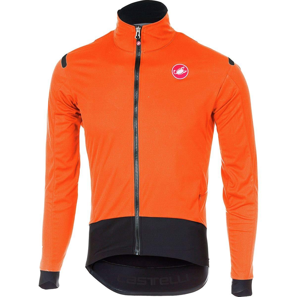 Castelli Alpha ROS Light Jacket - Men's Orange/Black, M