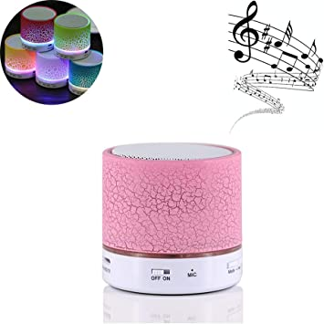 Altavoz Bluetooth Portátil Altavoces,Con Radio FM Micrófono Puerto USB AUX Para iPhone Android Smartphone Tablet PC Ordenador MicroSD U disco y Dispositivos Bluetooth de Audio(Rosa): Amazon.es: Electrónica