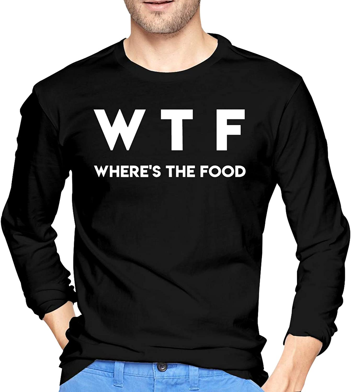 GUOJIAHAOmao WTF - Where's The Food Man's Long Sleeve T-Shirt Cotton Hoody Hoodie
