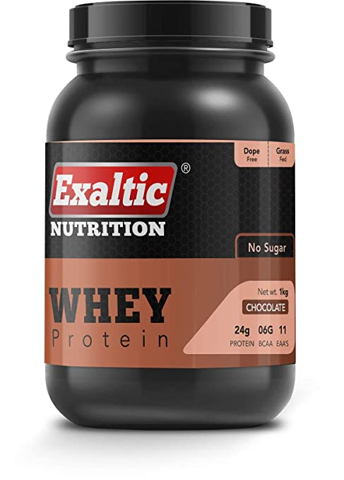 Exaltic Nutrition Whey Protein Chocolate - 1kg(2.2lb), 80% Whey ...