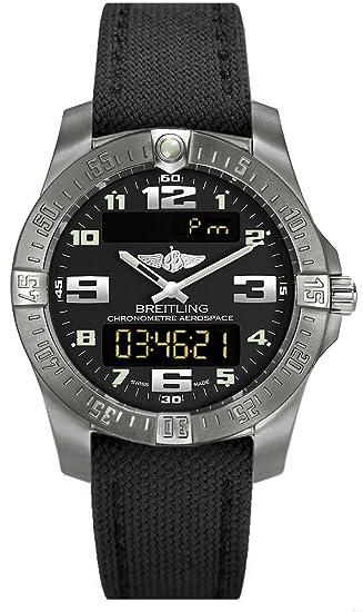 (Lona Correa Nuevo estilo) Breitling Hombre Aerospace Evo Titanio Reloj e7936310/BC27