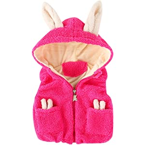 Zerototens Sleeveless Top,18M-7T Toddler Baby Girls Faux Fur Winter Autumn Warm Party Birthday Daily Coat Jacket Cute Thick Gilets Top Vest