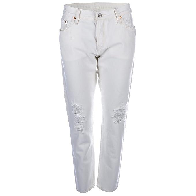 Para mujer Levis 501 CT Blanco apto para pantalones vaqueros en color blanco blanco blanco 59