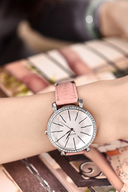 Generic When trend Korean_ fashion large watch _tray_ women girl _jacket_with_waterproof_ watch es,_diamonds_ girls_water- watch girl