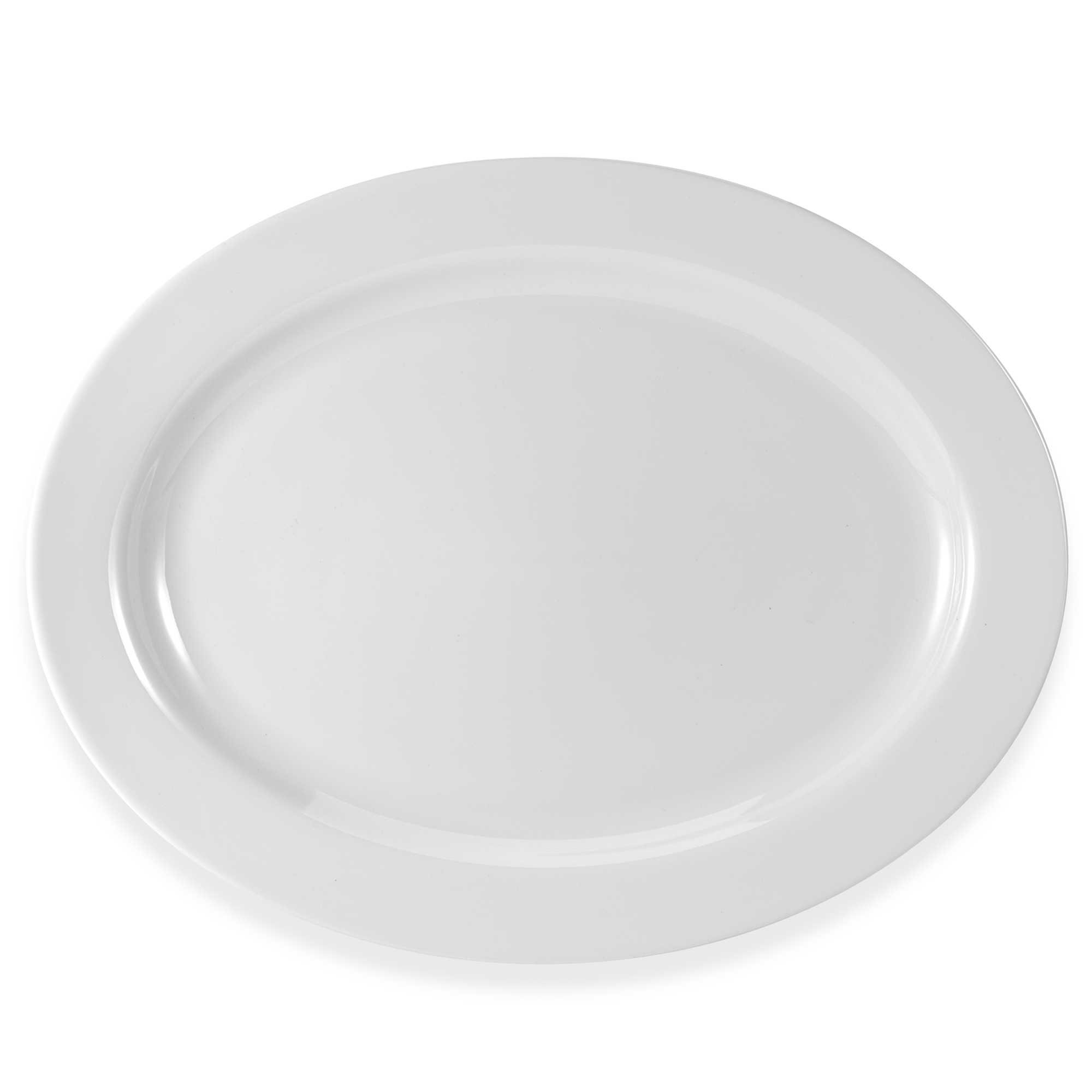 Everyday White by Fitz and Floyd Rim 16-Inch Oval Platter. Measures 15-3/4 in diameter by Everyday White