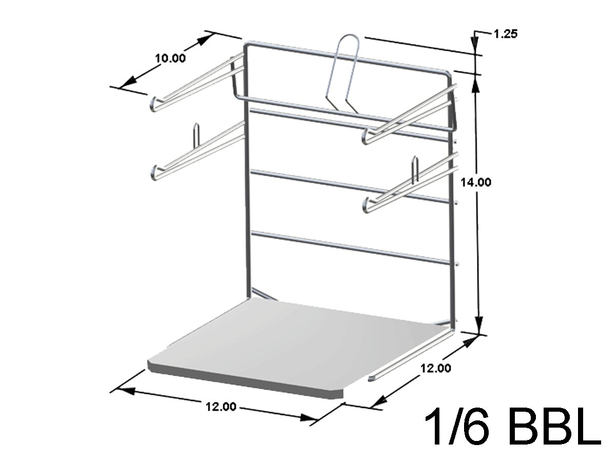 Counter Top T-Shirt Bag Rack/Retail Plastic Bag Dispenser & Holder - Bag Stand with Base - 2 Pack by Store Fixtures Direct (Image #2)