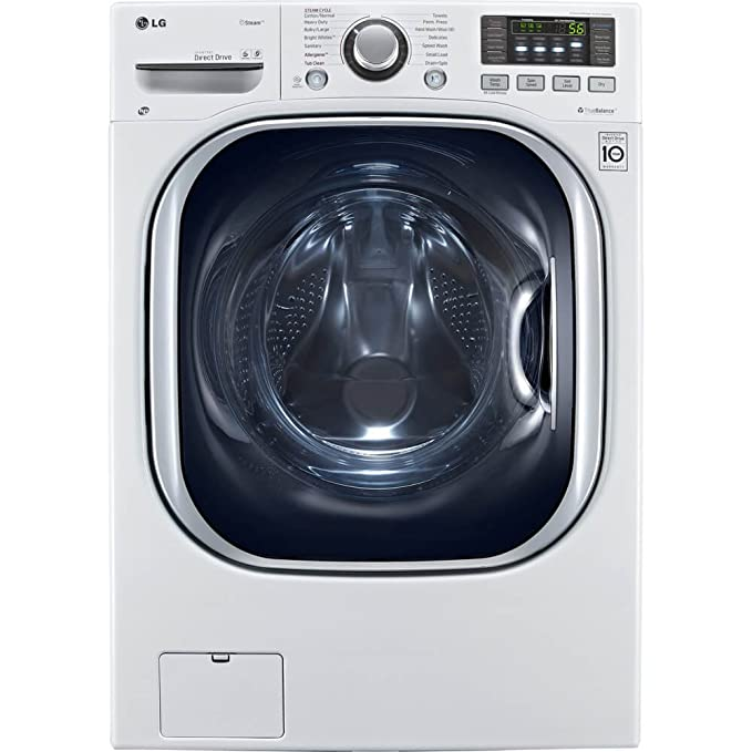 LG WM3997HWA Ventless 4.3 Cu. Ft. Capacity Steam Washer/Dryer Combination with TurboWash, TrueBalance Anti-Vibration System, NeveRust Stainless Steel Drum, Allergiene Cycle in White Best All-in-One Washer Dryer Combo Machines