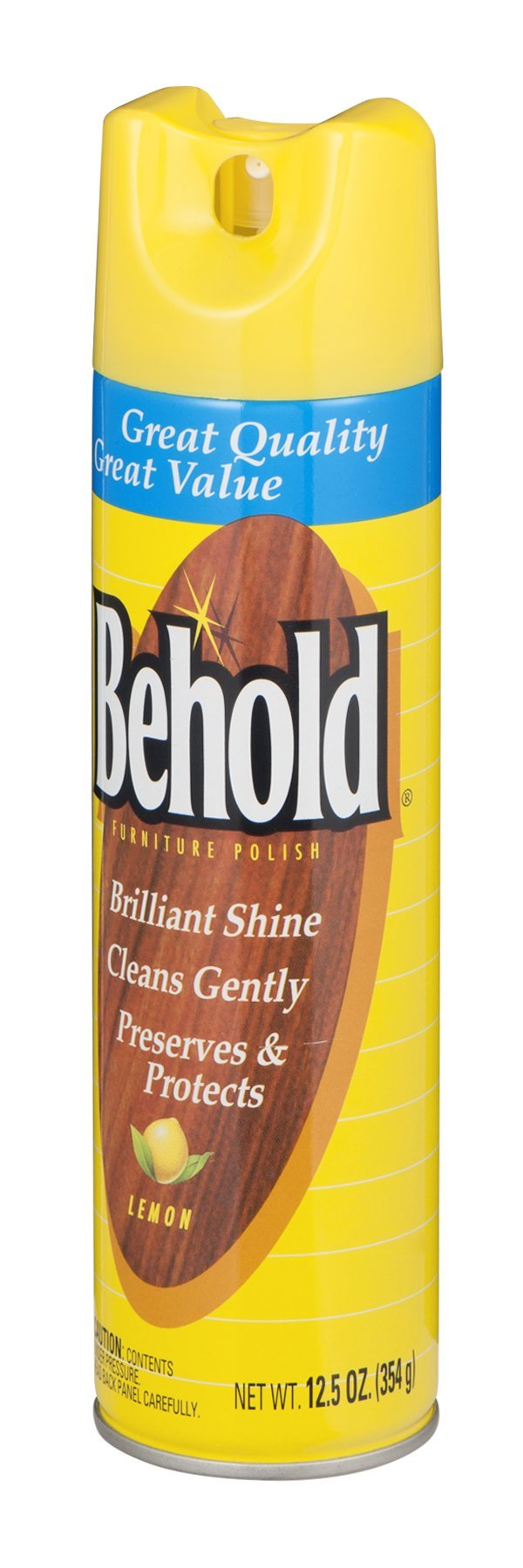 Behold Furniture Polish Lemon 12.5 OZ (Pack of 24)