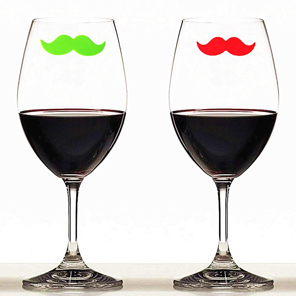 BESTONZON 6 Pcs Silicone Red Wine Glass Charms//Cocktail Markers Mixed