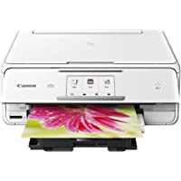 Canon PIXMA TS8020 Wireless All-In-One Printer w/ Scanner and Copier (White)