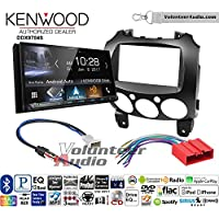 Volunteer Audio Kenwood DDX9704S Double Din Radio Install Kit with Apple Carplay Android Auto Fits 2011-2014 Mazda 2