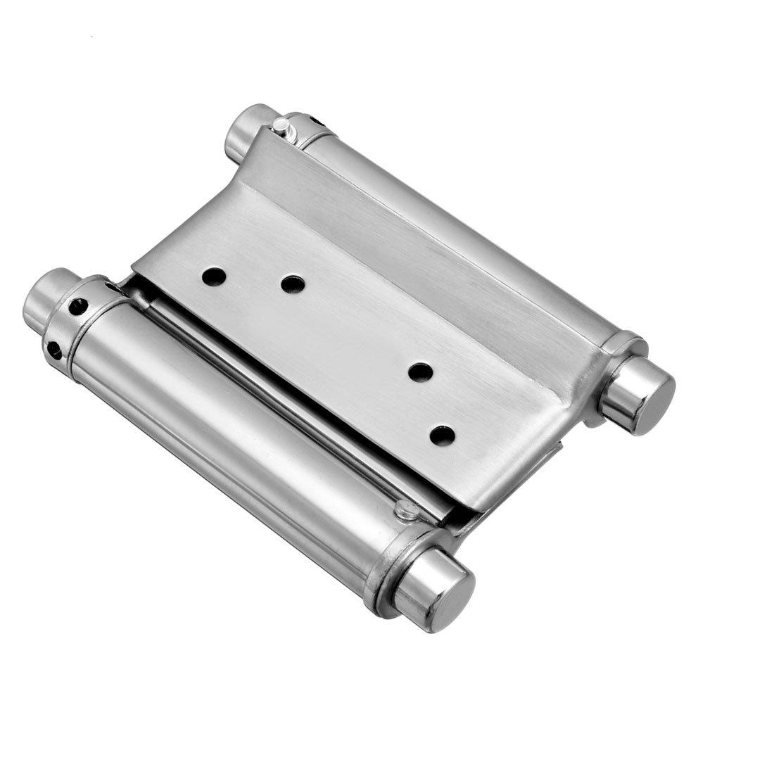uxcell Double Action Spring Hinge 3'' Stainless Steel Brushed Heavy Load Hinges with Tension Adjustment 1 Pack