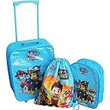 Paw Patrol - 3 Piece Blue Luggage Set