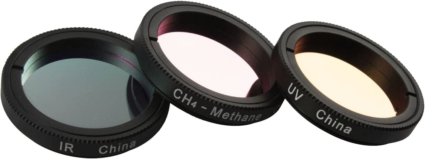 filter Astromania 1.25-Inch Specialized Planetary Imaging Filter Set 3-Pieces IR CH4 filter//Methane - Each filter is specifically designed to enhance astrophotos UV Ultraviolet filter//Infrared