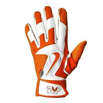 Nike MVP Elite Batting Gloves - White/Orange - Small GB0378-180-S