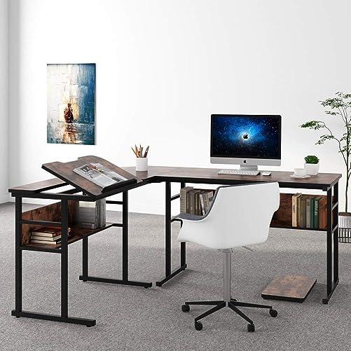 Best home office desk: Tribesigns L-Shaped Computer Desk