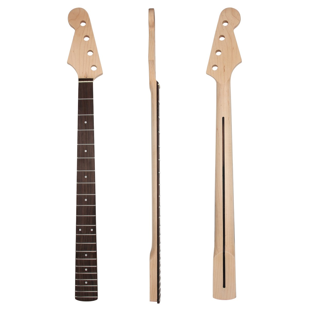 Left Hand Electric Bass Guitar Neck for Similar Guitar Bass Parts Replacement Maple 21 Fret …