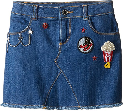 Price comparison product image Little Marc Jacobs Girl's Denim Skirt (Little Kids / Big Kids) Denim Blue Skirt