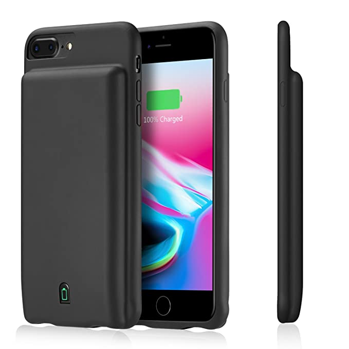 quality design 7d4b5 54fa4 Full Edge iPhone 8 Plus/7 Plus Battery Case, Kuxiu 7000mAh External Juice  2in1 Portable Handheld Battery Backup Power Bank Protective Case for 5.5
