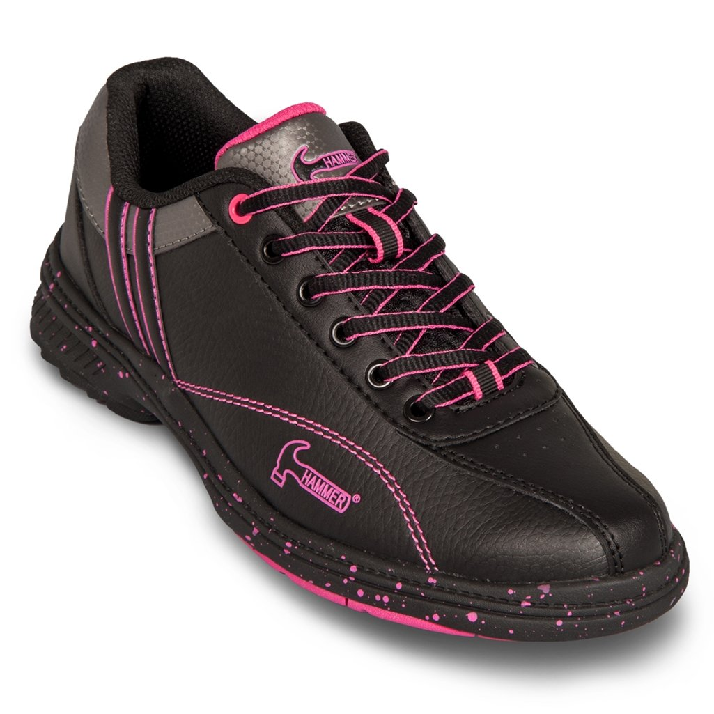 Hammer Women's Vixen Bowling Shoes, Black/Magenta, 8