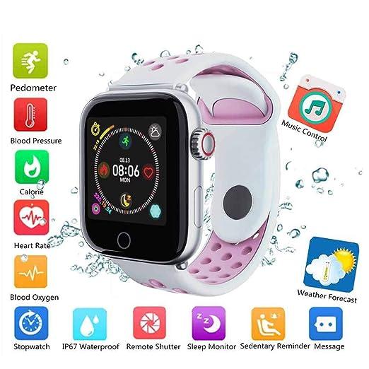 Hamkaw Y7 Fitness Tracker Reloj inteligente 1.3 pulgadas TFT Color ...