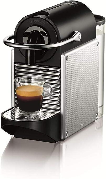 Nespresso DeLonghi Pixie EN125S - Cafetera monodosis de cápsulas Nespresso, 19 bares, apagado automático, color plata: Amazon.es: Hogar