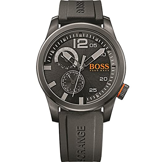 Boss Orange 1513147 - Reloj de Pulsera Hombre, Silicona, Color Negro