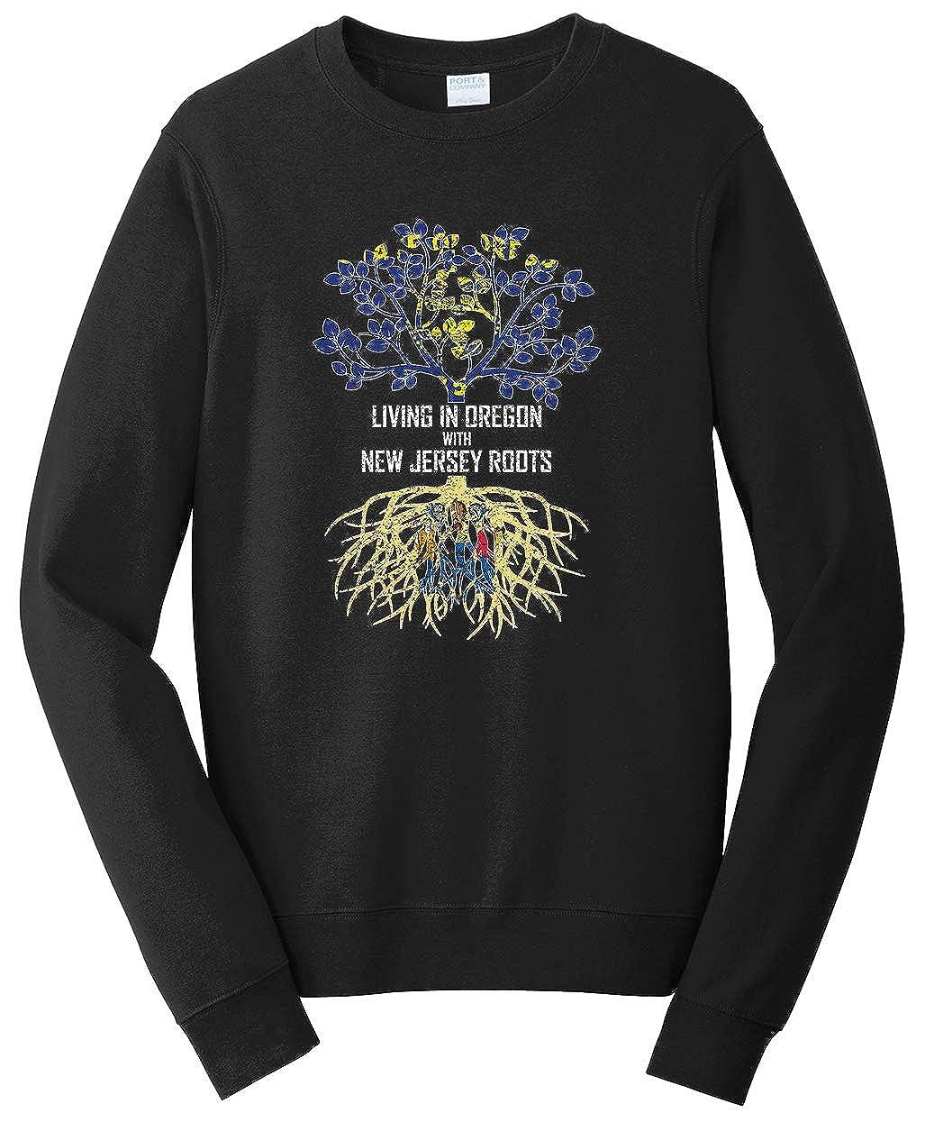 Tenacitee Unisex Living in Oregon Jersey Roots Sweatshirt