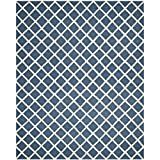 Safavieh Cambridge Collection CAM135G Handmade Navy and Ivory Wool Area Rug, 8 feet by 10 feet (8' x 10')