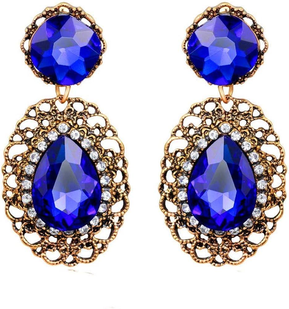 ZXTHXQ Pendientes Señoras Regalo De Calidad Magnífica, Europa Y América Pendientes De Piedras Preciosas De Cristal De Diamante De Imitación Grandes