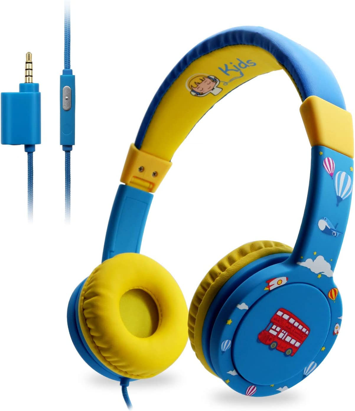 EasySMX Leicht-Kopfh/örer verstellbare Headset f/ür iPod iPad iPhone Kinderkopfh/örer mit Laust/ärkebegrenzung Handy Tablet PC MP3 MP4 3.5mm
