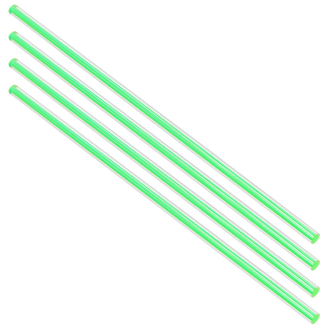 uxcell Acrylic Round Rod,1//4 Diameter 10 inch Length,Straight Dark Blue Line,Solid Plxi Glass Plastic Lucite PMMA Bar Stick 4pcs