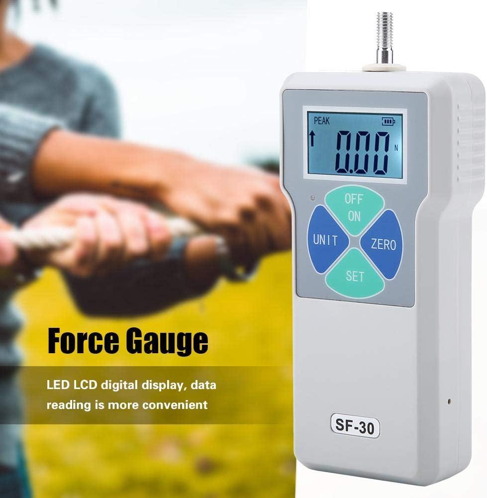 EU Plug 3kg Dynamom/ètre AC100-240V SF-30 30N 6.5lb Compteur de Jauge de Force Num/érique Portatif