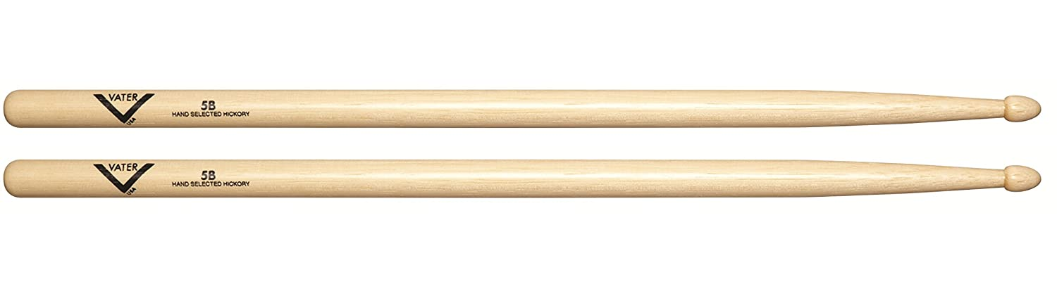 Vater VH5BW 5B Wood Tip Hickory Drum Sticks, Pair KMC Music Inc