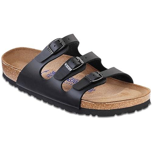 c7e5f4f2ff Image Unavailable. Image not available for. Color  Birkenstock Women s  Florida Soft Footbed Birko-Flor Black Sandals - 37 N EU   6