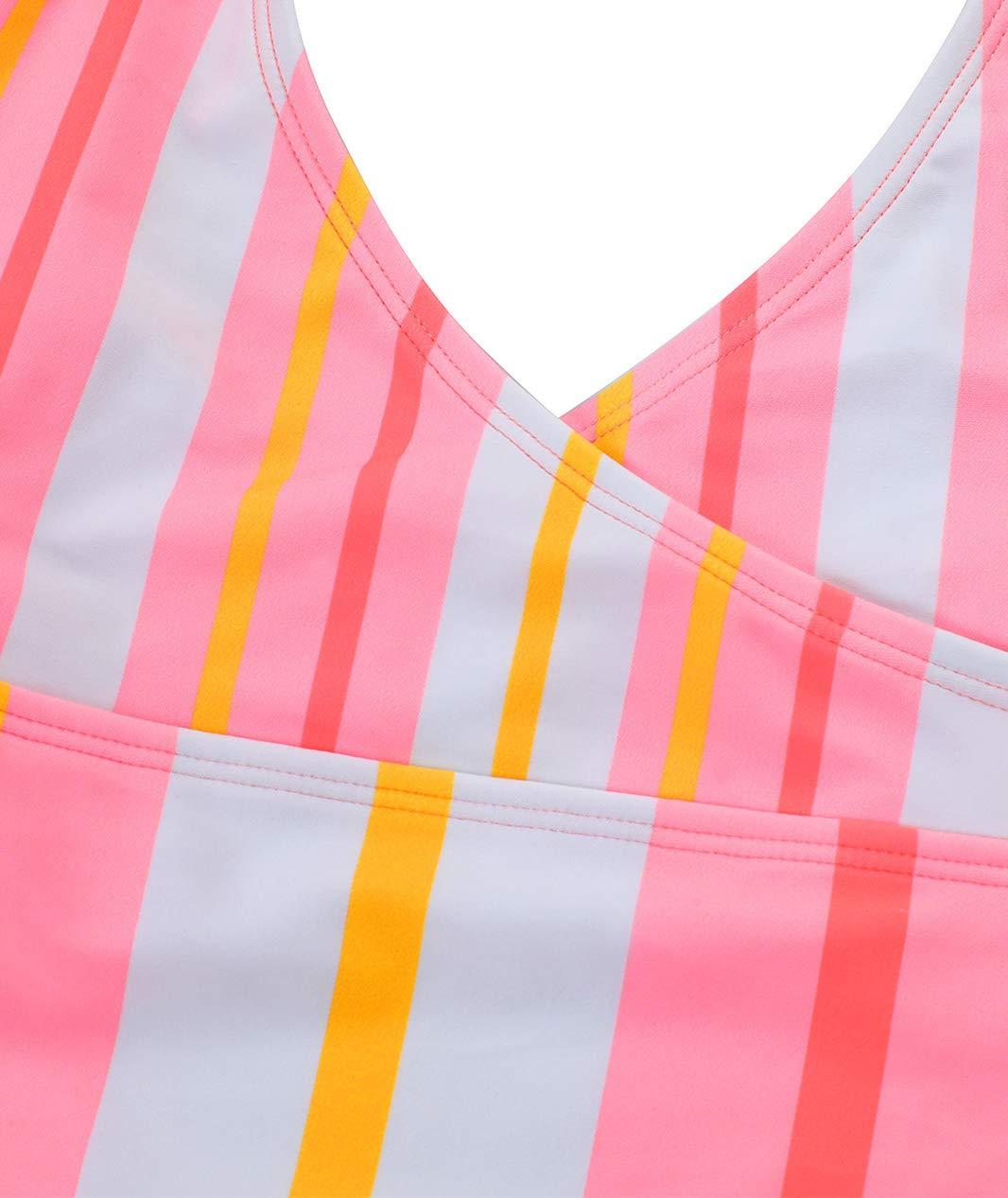 6-14 Years BELLOO Girls One Piece Swimsuits Halter Swimwear for Girl