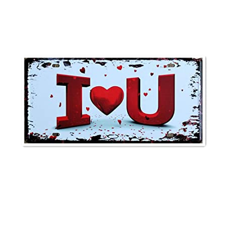 I Love You Póster de Pared Metal Creativo Placa Decorativa ...