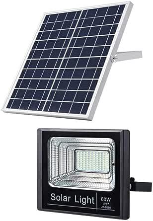 60W LED Solar Flood Light Waterproof Outdoor for Gardens Lawn Street