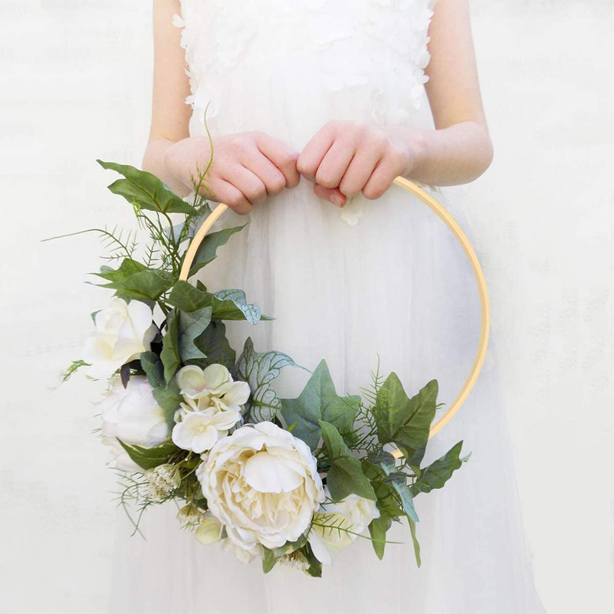 8, 10 /& 12 Inch Wooden Bamboo Floral Hoops Wreath Rings for Making Wedding Wreath Decor and Wall Hanging Craft Cralion 6pcs 3 Sizes