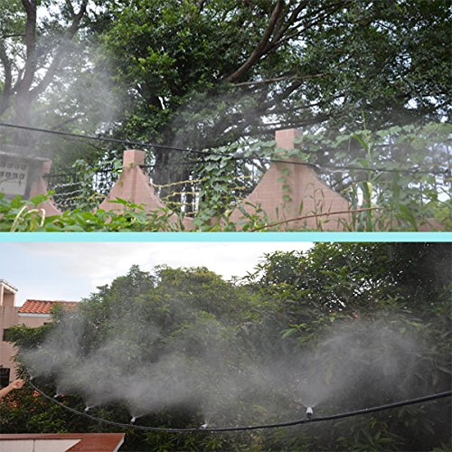 82FT Mist Cooling System with 25PCS Plastic Mist Nozzles For Outdoor Lawn Patio Garden Greenhouse by Forfuture-go (Image #7)