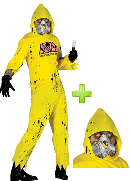 Disfraz de Radiactivo con mascara de gas: Amazon.es: Ropa y ...