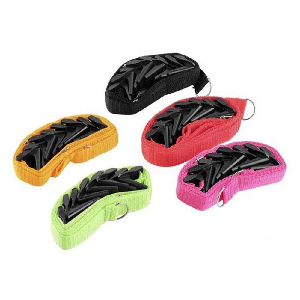 2 Pack Over Door Hanger, OWIKAR Multi-Purpose Door Hat Bag Clothes Coat Rack Holder Organizer Adjustable Straps Hanger Rack Save Space Holder Storage for Hat, Bag, Clothes, Belts (Random Color)
