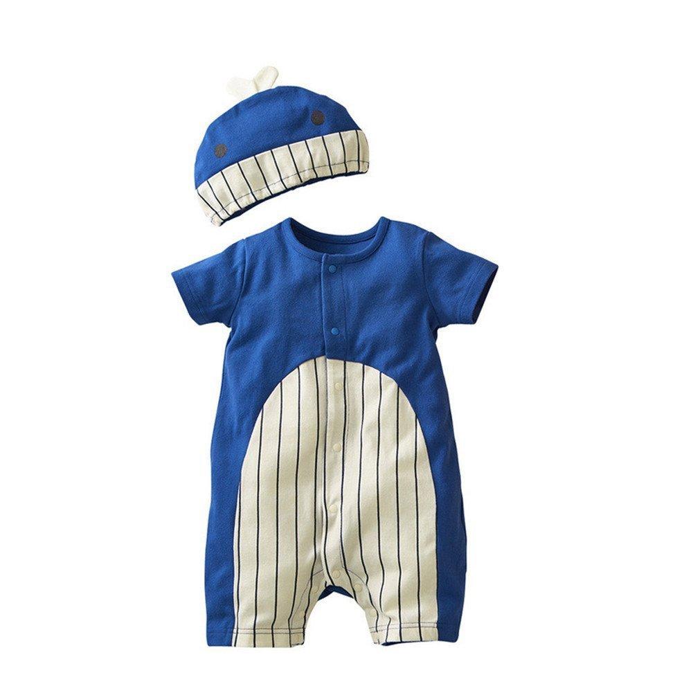 Jojobaby Baby Unisex 2Pcs Baby Clothes Fruit / Animal Bodysuit With Hats