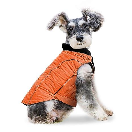 Wooce Ropa para Perros Chaqueta de Mascota Cómoda Ropa de Invierno Adecuado para Perros pequeños Grande