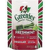 GREENIES Holiday Freshmint Dental Chews REGULAR Treats for Dogs, 6-Ounce
