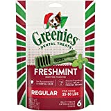 Cheap Greenies Holiday Freshmint Dental Chews Regular Treats For Dogs, 6-Ounce