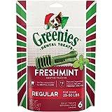 Cheap Greenies Holiday Freshmint Dental Chews Regular Treats For Dogs, 6-Ounce