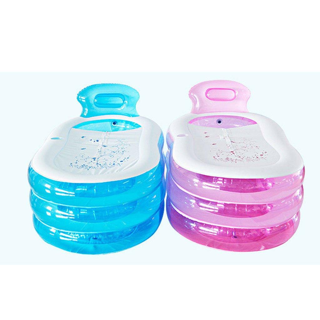 WYP Bathtub Inflatable PVC, Foldable Bathtub Thicken Adult Bathtub/Bath Plastic (Color : Pink, Size : 1307070cm) by WYP (Image #1)