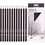 Professional Drawing Sketch Pencils Set, 12 Pieces Drawing Pencils, 8B,7B, 6B, 5B, 4B, 3B, 2B, B, HB, F, H, 2H Graphite…